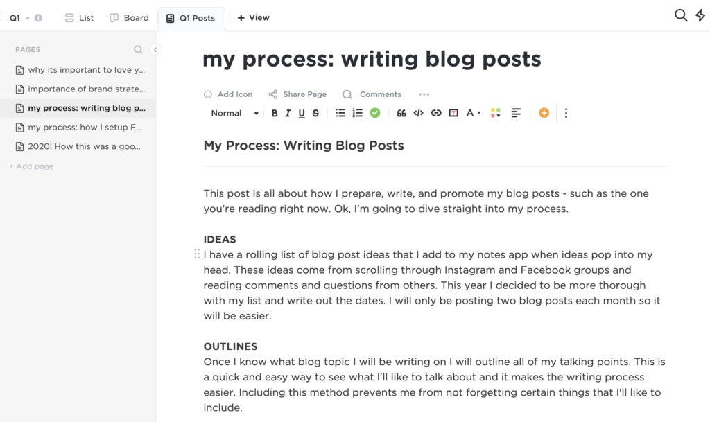 My Process: How I Prepare & Write my Blog Posts